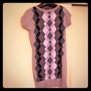 Argyle sweater dress